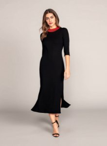 Vestido Malha Costine Malaga Lunender