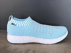 Tenis Knit Malha Azul Mescla