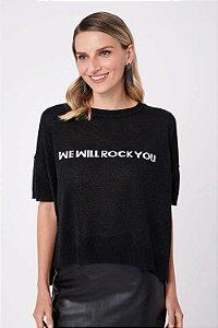 T-Shirt Tricot Texto Intarsia FYI
