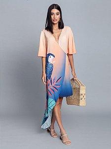 Vestido Tecido Rayon Bali Curto Crista Lez a Lez