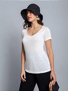 Blusa Malha Corazza Branco Off White Lez a Lez