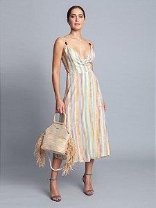 Vestido Tecido Rayon Bali Midi Brisa Lez a Lez