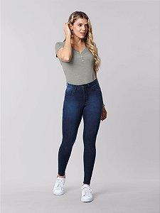 Calça Skinny com Elastano Fit For Me Jeans Escuro Lunender
