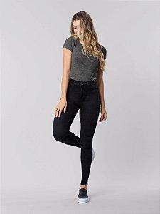 Calça Skinny com Elastano Fit For Me Preto Reativo Lunender