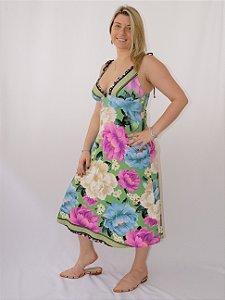 Vestido Amarração Liz Farm