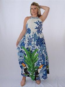 Vestido Colar Azulejo Macau Farm