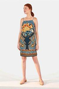 Vestido Curto Lazuli Lenço Farm