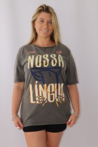 T-shirt Media Lingua Brasileira Farm