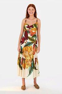 Vestido Franzido Cacau Banana Farm