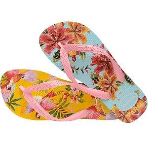 Havaianas Voo Colorido Bordado Flor Farm