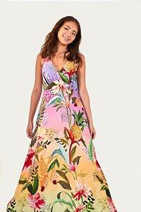 Vestido Cropped Flor de Onça Farm