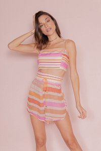 Short Estampado Color Stripes Open