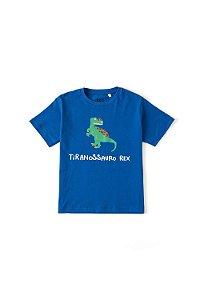 Camiseta Silk Qual o Dino Azul Fabula