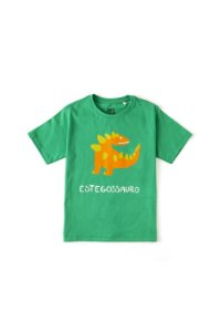Camiseta Silk Qual o Dino Verde Fabula
