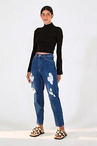 Calça Essencial Rasgos Refarm Jeans Farm