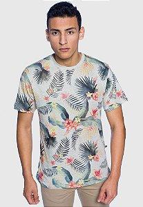 Camiseta Masculina Floral Banana