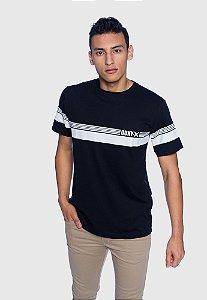 Camiseta Masculina Listra Preta