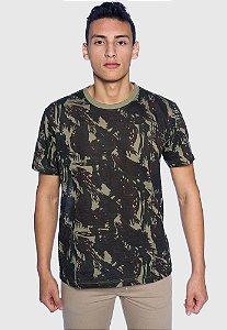 Camiseta Masculina Camuflada Escura