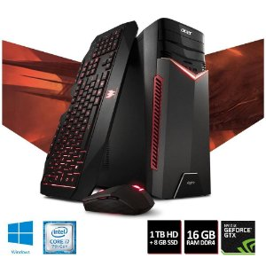 Computador Gamer Acer Intel Core i7-7700, 16GB, HD 1TB, GeForce GTX 1060 6GB, DVD-RW, Windows 10 Home, Aspire GX -GX-783-BR13