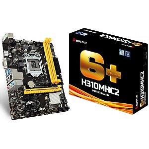 PLACA MÃE BIOSTAR H310MHC2, CHIPSET H310, INTEL LGA 1151, MATX, DDR4