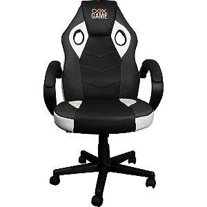 Cadeira Gamer GC200 Branca/Cinza - OEX