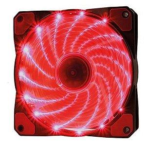 Cooler F20  Fan 15 Leds Vermelho Oex 12cm