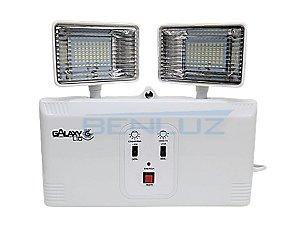 Luminária de Emergência LED 20W 140Leds Branco Frio