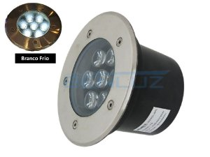 Luminária de chão Balizador de embutir LED 7W Branco frio a Prova d' água