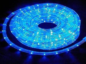 Mangueira de LED Redonda Azul Por Metro