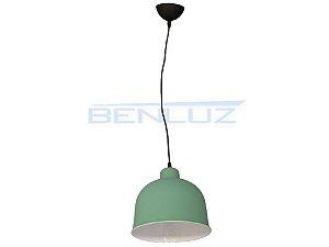 Luminária Pendente Verde Fosco 107x18x21cm E27 Bivolt