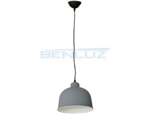 Luminária Pendente Cinza Fosco 107x18x21cm E27 Bivolt