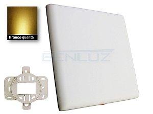Luminária Plafon LED 32W Borda infinita Quadrada 22x22cm 2 em 1 Branco Quente 3000K