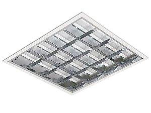 Luminária Comercial 2x16W de Embutir com 6 Aletas