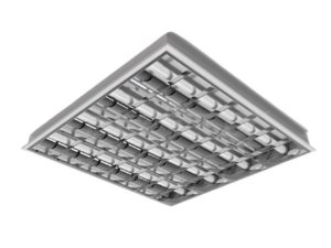 Luminária Comercial 4x32W de Embutir com 14 Aletas