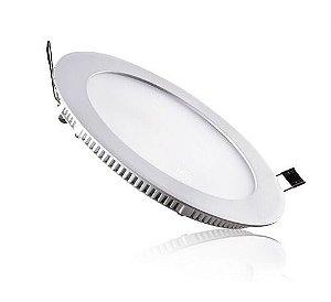 Luminária Painel Plafon LED 12W de Embutir 17x17 Branco Morno