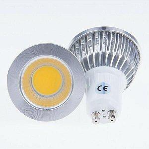 Lâmpada Dicroica LED COB - 3W - GU10