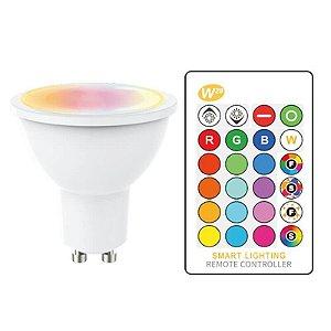 Lâmpada LED 3W Dicroica RGB MR16 - E27