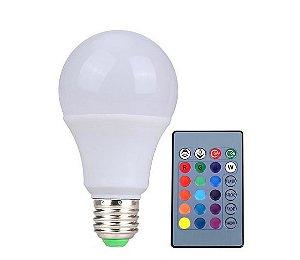 Lâmpada Bulbo LED - 5W - Bivolt - RGB
