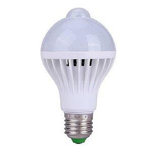 Lâmpada Led Bulbo com sensor de presença de 5W Bivolt