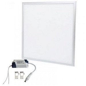 Painel Dowlight de Embutir Led- 45W - 62X62- Com Moldura Branca