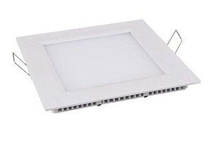 Painel Dowlight de Embutir Led- 24W - Com Moldura Branca- Branco Frio