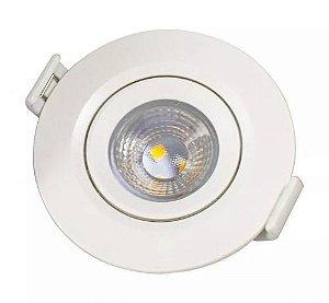Spot LED 10W Redondo de Embutir - Direcionável Bivolt
