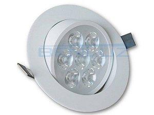 Spot de LED 7W Redondo de Embutir  - Direcionável Bivolt Alumínio