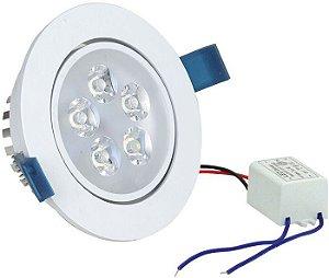 Spot de LED SMD - 12W - Direcionavel de Embutir - Aluminio