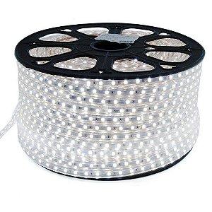 Mangueira de LED CHATA OU FITA LED ROLO C/ 100 METROS - Branco Frio - 220V