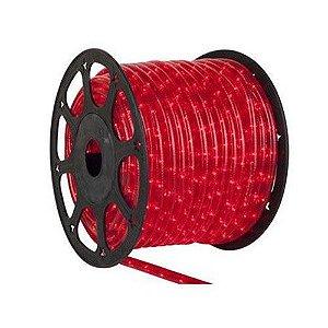 Mangueira de LED Vermelho 12MM - Rolo com 100 Metros