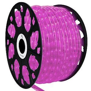 Mangueira de LED Rosa 12MM Rolo com 50 Metros 110V