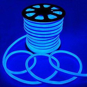 Mangueira Chata de LED Neon- 100 Metros Rolo- Azul