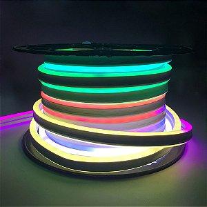 Mangueira Neon de Led RGB C/ 50 Metros 110V ou 220V (Controle Remoto COM 8 CORES )