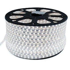 Mangueira Chata De LED 5050 - Rolo com 100 Metros - Branco Frio